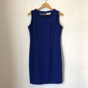 Peter Nygard Blue Sheath Dress Size 8